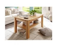 MCA furniture Couchtisch, Couchtisch Massivholz mit Ablage braun Couchtische Tische Möbel sofort lieferbar