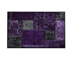 wash & dry Fußmatte waschbar, lila, violett
