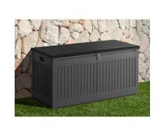 garten gut Auflagenbox, 270 Liter grau Garten- Kissenboxen Gartenmöbel Gartendeko Auflagenbox