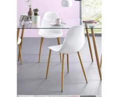 Schalenstuhl Miller weiß 4-Fuß-Stühle Stühle Sitzbänke