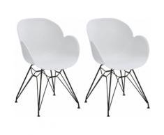 GALLERY M Schalenstuhl Tonio weiß 4-Fuß-Stühle Stühle Sitzbänke