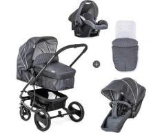 Hauck Kombi-Kinderwagen Pacific 4 Shop N Drive, Melange Charcoal, 25 kg, mit Babyschale; Kinderwagen grau Kinder Kombikinderwagen Buggies