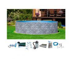 MyPool Rundpool (Set) grau Swimmingpools Pools Planschbecken Garten Balkon