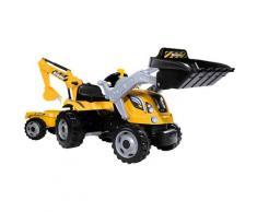 BIG Trettraktor Builder Max, BxTxH: 44x63x183 cm gelb Kinder Ab 3-5 Jahren Altersempfehlung