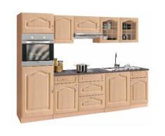 wiho Küchen Küchenzeile Linz, mit E-Geräten, Breite 280 cm EEK C beige Küchenzeilen Geräten -blöcke Küchenmöbel Arbeitsmöbel-Sets