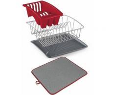 Metaltex Geschirrständer Aquanet, rot, Neutral, rot-grau