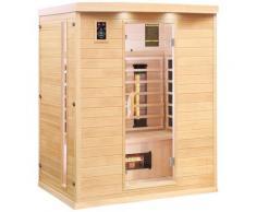 Dewello Infrarotkabine Pierson Dual-Therm, für bis zu 3 Personen beige Infrarotkabinen Sauna Bad Sanitär