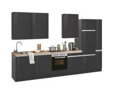 HELD MÖBEL Küchenzeile Ohio grau Küchenzeilen ohne Geräte -blöcke Küchenmöbel Arbeitsmöbel-Sets