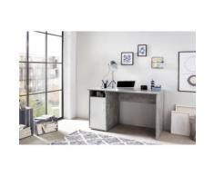 Schreibtisch MULTI, weiß, Beton/Weiß