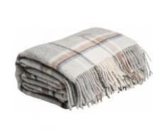 Wolldecke Check, Gant grau Kunstfaserdecken Decken Wohndecken