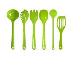 WACA Kochbesteck-Set, (Set, 5-tlg.) grün Kochbesteck Besteck Messer Haushaltswaren Kochbesteck-Sets