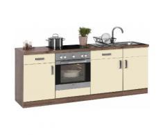 wiho Küchen Küchenzeile Tacoma, mit E-Geräten, Breite 220 cm EEK A gelb Küchenzeilen Geräten -blöcke Küchenmöbel Arbeitsmöbel-Sets