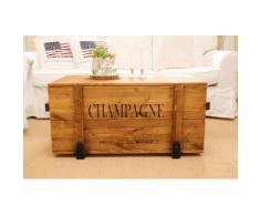 """Uncle Joe´s Truhentisch """"Champagne"""" braun Holz-Beistelltische Holztische Tische Tisch"""