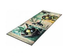 Küchenläufer, L´Olive, wash+dry by Kleen-Tex, rechteckig, Höhe 7 mm, gedruckt bunt Küchenläufer Läufer Bettumrandungen Teppiche