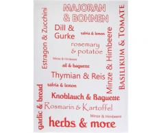 stuco Geschirrtuch Herbs&More, (Set, 3 tlg.) rot Geschirrtücher Küchenhelfer Haushaltswaren