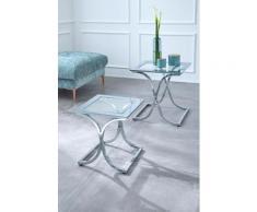 Guido Maria Kretschmer Home&Living Satztisch Ballum silberfarben Beistelltische Tische Tisch