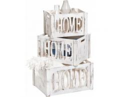 Zeller Present Aufbewahrungsbox Home weiß Kleideraufbewahrung Aufbewahrung Ordnung Wohnaccessoires