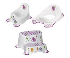 keeeper Töpfchen Hippo, weiß, (Set, 3 tlg.), Kinderpflege-Set - Töpfchen, Toilettensitz und Tritthocker; Made in Europe weiß Baby Baby-Toilette Körperpflege Gesundheit