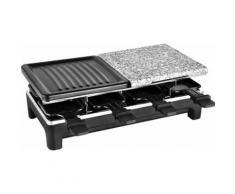 Team Kalorik Raclette TKG RAC 1016, 8 Raclettepfännchen, 1500 Watt schwarz Küchenkleingeräte Haushaltsgeräte
