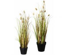 Gasper Kunstpflanze Lagurusgrasbusch (Set 2 Stück), grün, grün