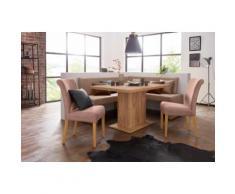 Premium collection by Home affaire Stuhl Barcelona, Stuhlbeine aus Massivholz und Bezug Mikrofaser braun 4-Fuß-Stühle Stühle Sitzbänke