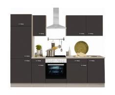 OPTIFIT Küchenzeile Faro grau Küchenzeilen ohne Geräte -blöcke Küchenmöbel Arbeitsmöbel-Sets