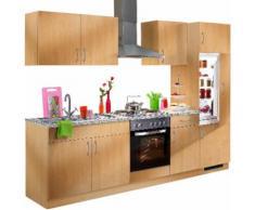 wiho Küchen Küchenzeile Kiel, mit E-Geräten, Breite 270 cm EEK B braun Küchenzeilen Geräten -blöcke Küchenmöbel Arbeitsmöbel-Sets