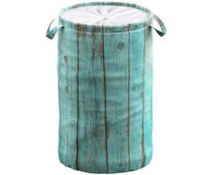 Sanilo Wäschekorb Lumber blau Badmöbel