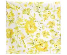Stoffserviette 6911 SPRINGTIME APELT (Set 4-tlg), gelb, weiß-gelb-grün