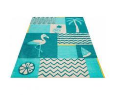 Kinderteppich, Fruity Flamingo, SMART KIDS, rechteckig, Höhe 9 mm, handgetuftet blau Kinder Bunte Kinderteppiche Teppiche