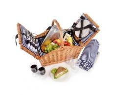 SÄNGER Picknickkorb Sylt, (24 St.) braun Küchenhelfer Haushaltswaren