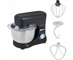 exquisit Küchenmaschine KM 3101 sw, 1000 Watt, Schüssel 4,5 Liter silberfarben Multifunktionsküchenmaschinen Küchenmaschinen Haushaltsgeräte ohne Kochfunktion