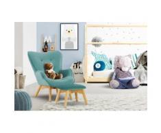 Lüttenhütt Sessel Duca Mini, in kleiner Ausführung für Kinder blau Ohrensessel und Hocker Sofas Couches