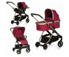 iCoo Kombi-Kinderwagen Acrobat XL Plus Trio Set Diamond Ruby, 15 kg rot Kinder Kombikinderwagen Kinderwagen Buggies