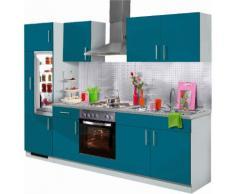wiho Küchen Küchenzeile Kiel, mit E-Geräten, Breite 270 cm EEK B blau Küchenzeilen Geräten -blöcke Küchenmöbel Arbeitsmöbel-Sets