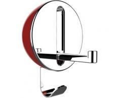 WENKO Klapphaken Premium Delta, ideal für Küche, Bad, WC, Garderobe & gesamten Haushalt, rund rot Garderobenhaken Garderoben