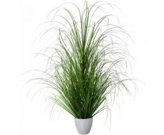 Creativ green Kunstgras Grasbusch, im dekorativen Kunststofftopf grün Künstliche Zimmerpflanzen Kunstpflanzen Wohnaccessoires