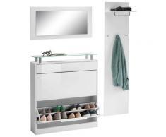 borchardt Möbel Garderoben-Set Olivia, (Set, 3 St.), (3-tlg.), stehender Schuhschrank weiß Garderoben-Sets Garderoben