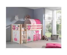Vipack Hochbett Pino, wahlweise mit Rutsche braun Betten Möbel Aufbauservice