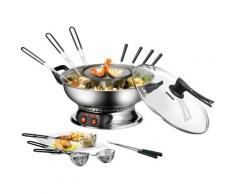 Unold Fondue Asia 48746 silberfarben Küchenkleingeräte Haushaltsgeräte Fondues