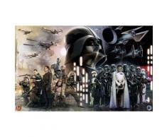 Vliestapete Star Wars Collage Komar Comic, bunt, bunt