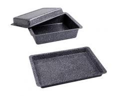 CHG Auflaufform Granito Stahlblech, grau, grau