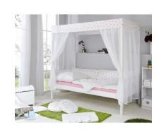 Ticaa Himmelbett Lino, in diversen Breiten, Kiefer weiß Betten