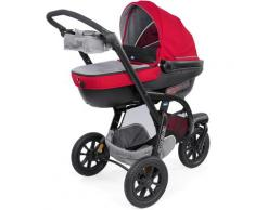 "Chicco Kombi-Kinderwagen ""Trio-System Activ3 Top mit Kit Car Red Berry"", rot, Unisex, rot-grau"