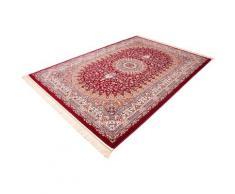 Böing Carpet Teppich Classic 3216, rechteckig, 10 mm Höhe, Orient-Optik, mit Fransen, Wohnzimmer rot Esszimmerteppiche Teppiche nach Räumen