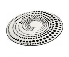 Teppich Eddy Esprit rund Höhe 13 mm, weiß, Neutral, weiß