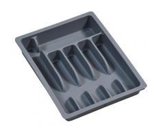 KESPER for kitchen & home Besteckkasten, variabel ausziehbar, Kunststoff grau Besteckkasten Küchen-Ordnungshelfer Küchenhelfer Küche