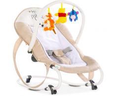 Hauck Babywippe Bungee Deluxe, Pooh Cuddles, bis 9 kg beige Baby Ab Geburt Altersempfehlung