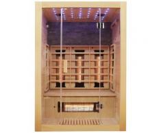 Dewello Infrarotkabine Milton Vollspektrum, für bis zu 2 Personen beige Infrarotkabinen Sauna Bad Sanitär