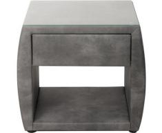 ADA trendline Nachttisch Nadine, mit Glasplatte grau Nachtschränke Nachttische Tische